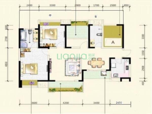 中信未来城南区 4室2厅